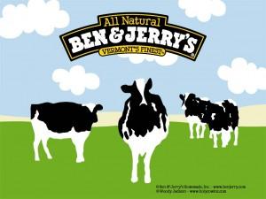 ben jerrys cow logo